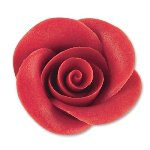 @ Marzipan-Rosen groß, rot (2Stk)