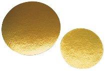 Papp-Tortenunterlagen/Scheiben gold rund 26cm (100 STK)