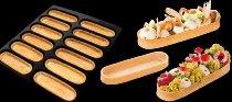 @ Dessert-Tartelette hell 'Eclair-Form oval' (72 Stk)